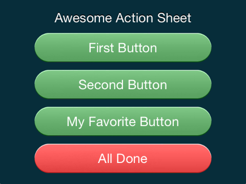 iOS Custom UIActionSheet