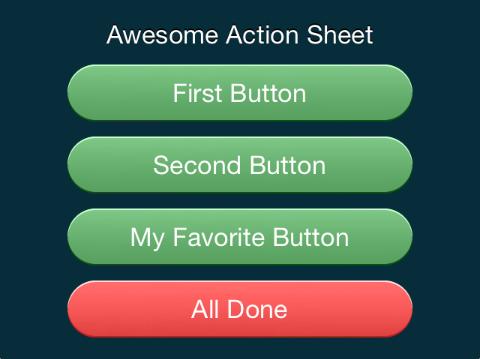 iOS Custom UIActionSheet