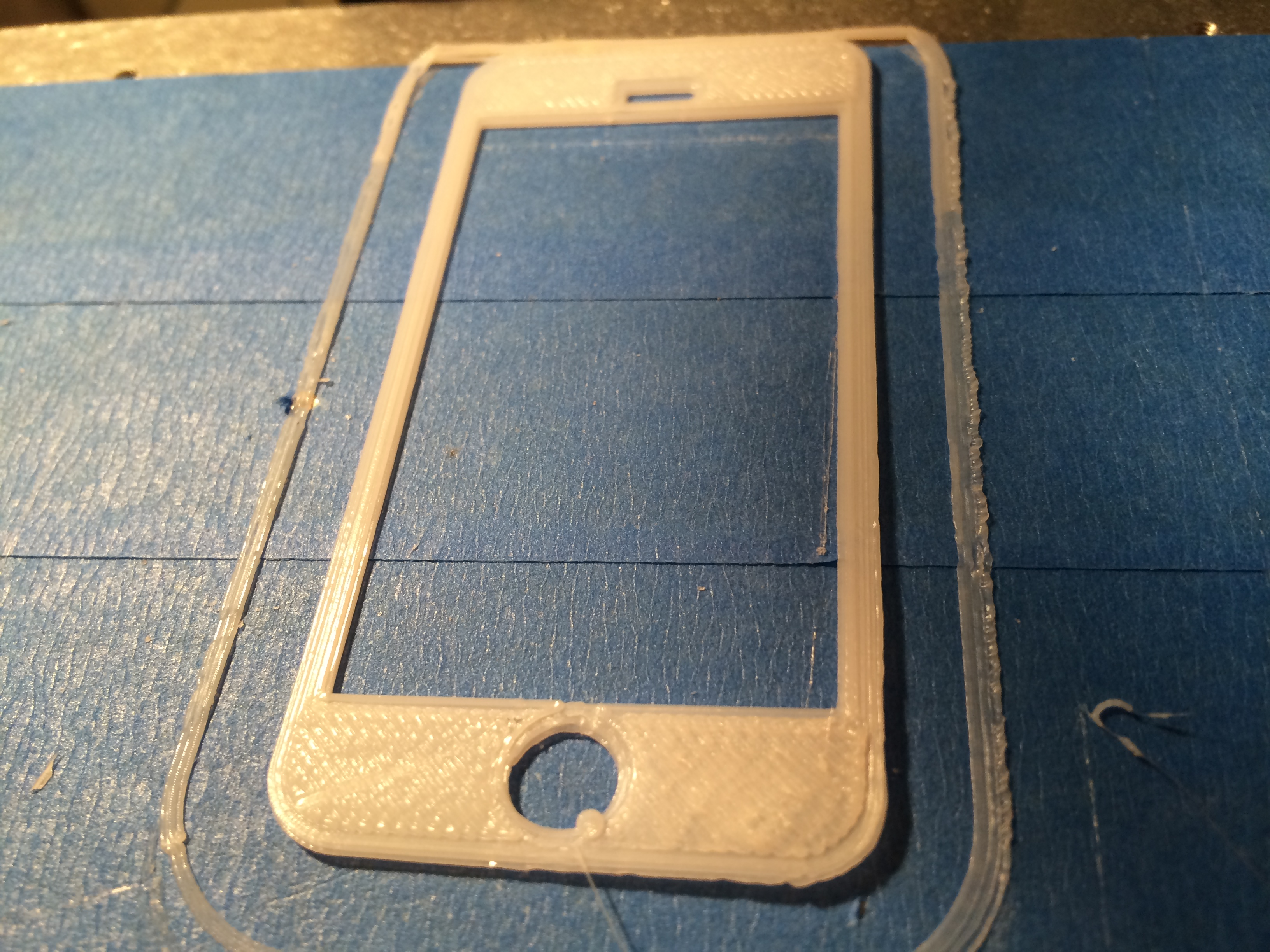 3d printed iPhone stencil for protyping
